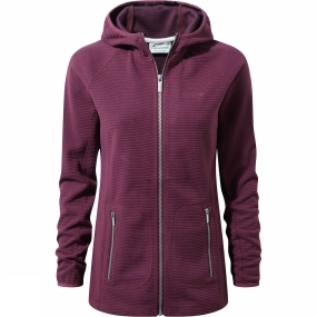 Craghoppers Craghoppers Womens Hazelton Hooded Jacket Dark Rioja Red
