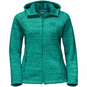 Jack Wolfskin Jack Wolfskin Womens Aquila Hooded Jacket Deep Mint