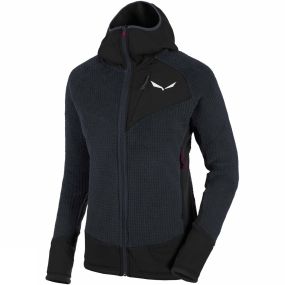 Salewa Salewa Womens Ortles Polartec Highloft Full Zip Hoody Night Black
