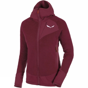 Salewa Salewa Womens Ortles Polartec Highloft Full Zip Hoody Tawny Port