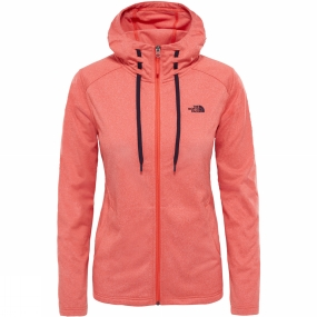 The North Face The North Face Tech Mezzaluna Hoodie Fire Brick Red Heather