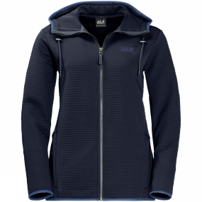 Jack Wolfskin Jack Wolfskin Womens Modesto Hooded Jacket Midnight Blue