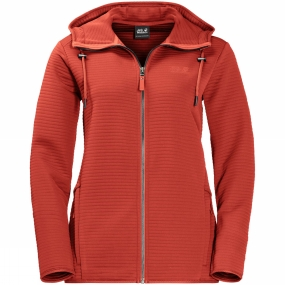 Jack Wolfskin Jack Wolfskin Womens Modesto Hooded Jacket Volcano Red