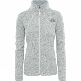 The North Face The North Face Womens Crescent Full Zip Fleece Vintage White Heather