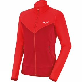 Salewa Salewa Womens Ortles Polartec Full Zip Fleece Papavero