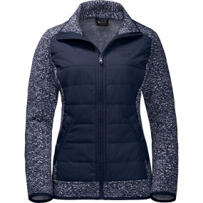 Jack Wolfskin Jack Wolfskin Womens Belleville Crossing Jacket Midnight Blue All Over