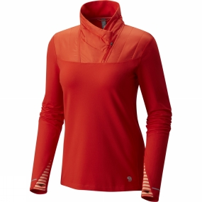 Mountain Hardwear Mountain Hardwear Womens 32� Insulated 1/2 Zip Fiery Red