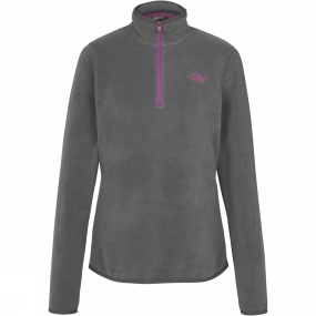 The North Face The North Face Womens Cornice 1/4 Zip Fleece Graphite Grey Melange
