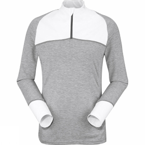 Eider Women's Tignes 1/2 Zip White/Light Grey Heather Eider Women's Tignes 1/2 Zip White/Light Grey Heather by Eider