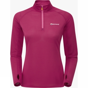Montane Montane Womens Allez Micro Pull-On French Berry/Dolomite Pink