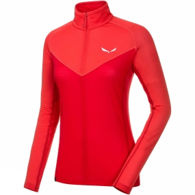 Salewa Salewa Womens Ortles 2 Half Zip Top Hot Coral