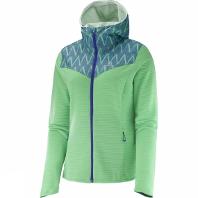 Salomon Salomon Women's Elevate Mid Jacket Jasmine Green/Phlox Violet