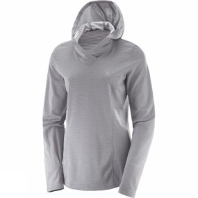 Salomon Salomon Womens Elevate Long Sleeve Hoodie Alloy