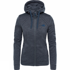 The North Face The North Face Womens Kutum Full Zip Hoodie Asphalt Grey Heather
