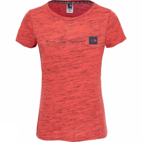 The North Face The North Face Womens Short Sleeve Neverstopexploring T-Shirt Cayenne Red / TNF Black Novelty