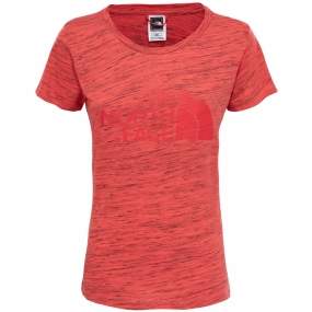 The North Face Womens Short Sleeve Easy Tee Cayenne Red