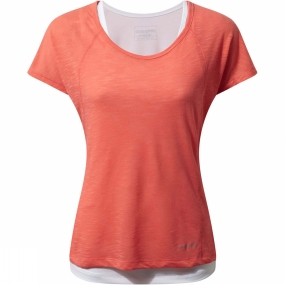 Craghoppers Craghoppers Womens Pro Lite 3-in-1 T-Shirt Bright Papaya