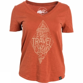 United By Blue United By Blue Womens Travel Often T-Shirt Rust