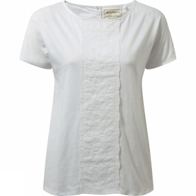 Craghoppers Craghoppers Womens Connie Short Sleeve Top Optic White