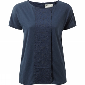 Craghoppers Craghoppers Womens Connie Short Sleeve Top Soft Navy