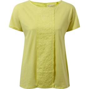 Craghoppers Craghoppers Womens Connie Short Sleeve Top Limeade
