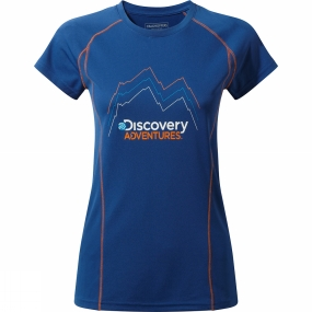 Craghoppers Craghoppers Womens Discovery Adventure Short Sleeve T-Shirt Deep Blue