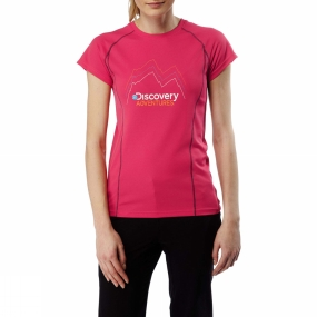 Craghoppers Craghoppers Womens Discovery Adventure Short Sleeve T-Shirt Electric Pnk