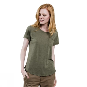 United By Blue United By Blue Womens Standard Pocket Tee Olive