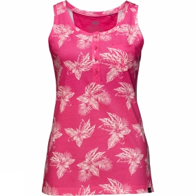 Jack Wolfskin Womens Tropical Top Tropic Pink All Over