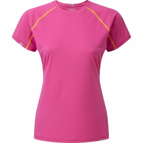Montane Montane Womans Sonic T-Shirt Dolomite Pink/ French Berry