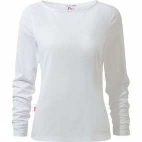 Craghoppers Craghoppers Womens Nosilife Erin Long Sleeved Top Optic White