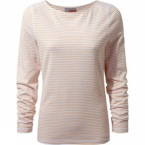 Craghoppers Craghoppers Womens Nosilife Erin Long Sleeved Top Mango Combo