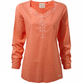 Craghoppers Craghoppers Womens Rayna Long Sleeve Top Bright Papaya