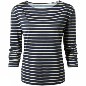 Craghoppers Craghoppers Womens Delamere Long Sleeve Top Soft Navy Combo