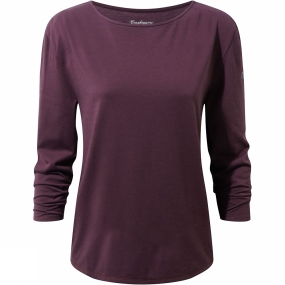 Craghoppers Craghoppers Womens Delamere Long Sleeve Top Winterberry