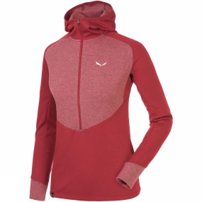 Salewa Salewa Womens Puez Dry Long Sleeve Hooded Half Zip Tee Cornell