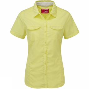 Craghoppers Craghoppers Womens NosiLife Adventure Short Sleeve Shirt Citronella