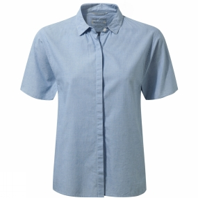 Craghoppers Craghoppers Womens Natalie Short-Sleeved Shirt Pale Blue