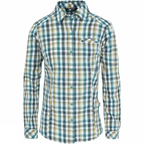The North Face The North Face Womens Zion Shirt Trellis Green Plaid