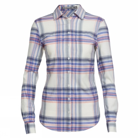 Icebreaker Icebreaker Womens Kala Long Sleeve Shirt Abyss/Gumtree/Tulip