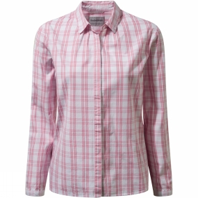 Craghoppers Craghoppers Womens Candelo Shirt English Rose Check
