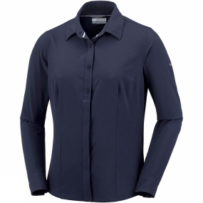 Columbia Columbia Womens Saturday Trail Stretch Long Sleeve Shirt Nocturnal