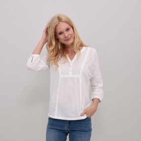 Brakeburn Womens Lace And Dobby Blouse