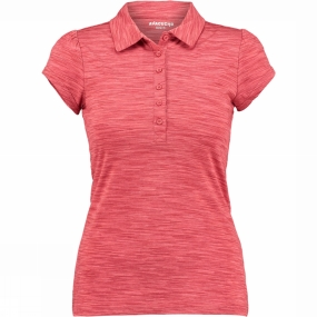 Ayacucho Womens Betty Polo Space Dyed Cranberry
