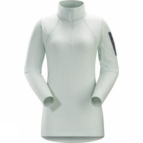 Arc'teryx Womens Rho LT Zip Neck Dew Drop Arc'teryx Womens Rho LT Zip Neck Dew Drop by Arc'teryx