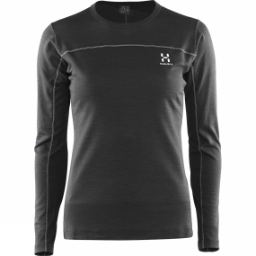 Haglofs Haglofs Women's Actives Blend Roundneck True Black
