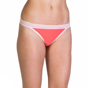 ExOfficio Womens Give-n-Go Lacy Thong Hot Coral