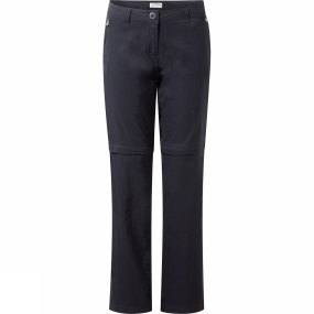 Craghoppers Craghoppers Womens Kiwi Pro Stretch Convertible Trousers Dark Navy