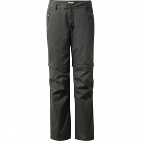 Craghoppers Craghoppers Womens C65 Convertible Trousers Charcoal