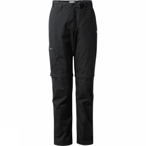 Craghoppers Craghoppers Womens Kiwi II Convertible Trousers Black